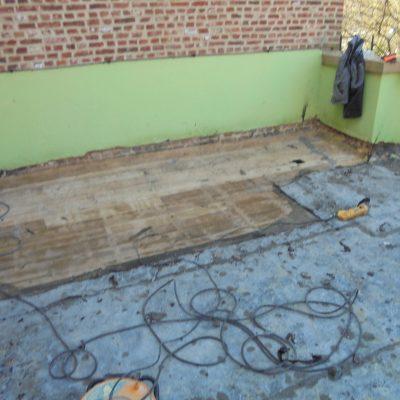Vieux plancher de plateforme