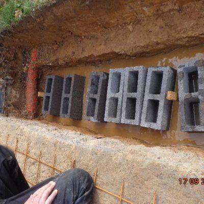 Béton de fondation terrasse véranda