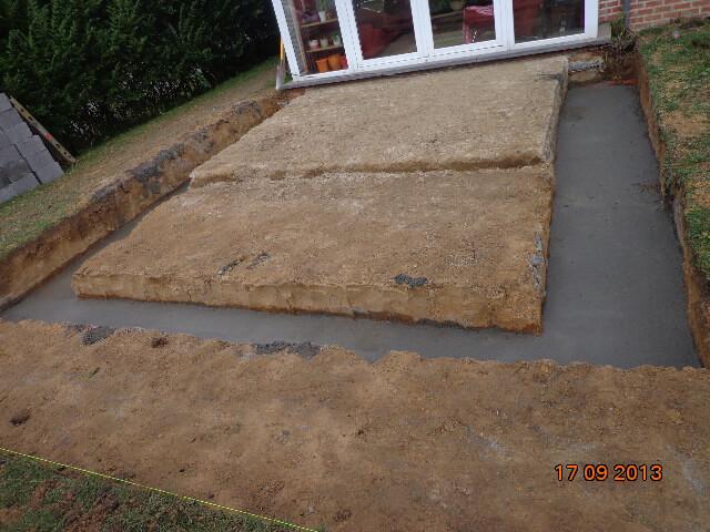 Terrasse marlux et carrelage béton entreprise La Louvière