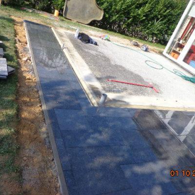Fondation véranda terrasse